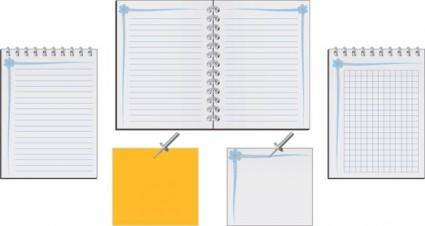 free vector Blank book vector