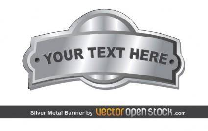 free vector Silver Metal Banner