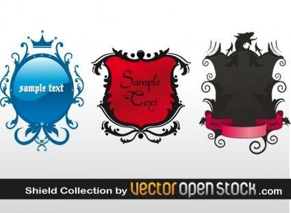 free vector Shield Banner Collection