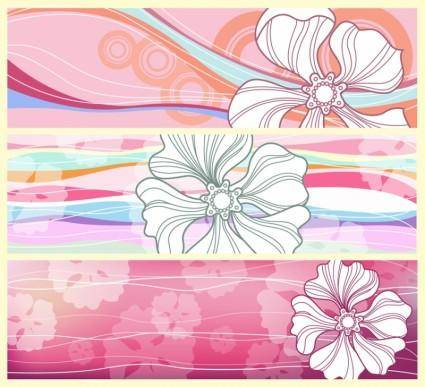 free vector Flower Banners