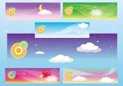 free vector Dream Banners
