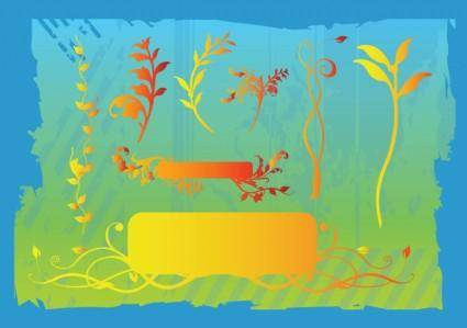 free vector Plant Banners