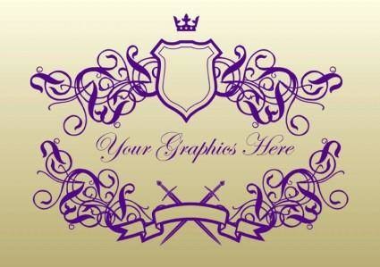 free vector Royal Banner Shields