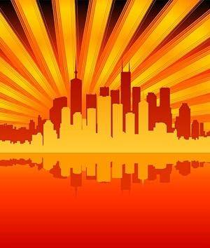 free vector City reflection vector