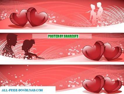 free vector Valentines Day Banner