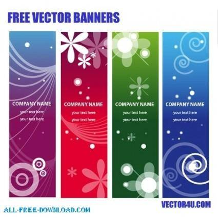 free vector Vector ads banners