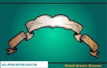 free vector Hand Drawn Banners