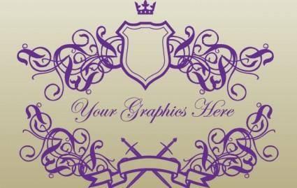 free vector Royal Banner Shields
