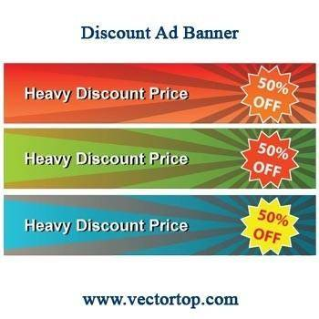 free vector Discount banner