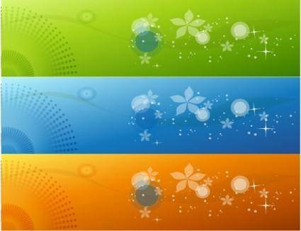 free vector Color Banners Vector