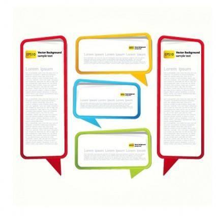 free vector Text dialog box 03 vector