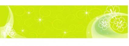 free vector Green Banner II