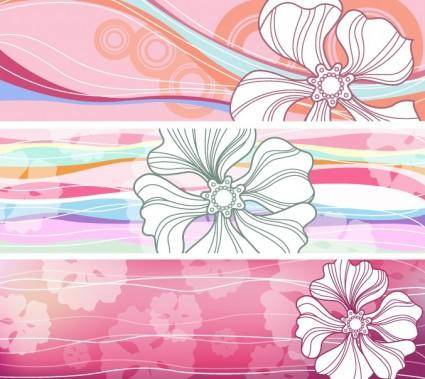 free vector Flowered_Banners