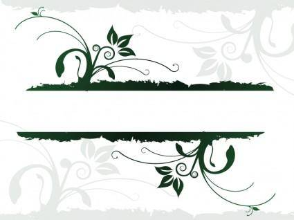 free vector Organic Design Juices flowing Banner