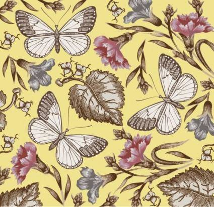Butterfly floral 01 vector