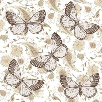 Butterfly floral 06 vector