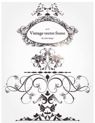 free vector Europeanstyle floral border and decorations 04 vector