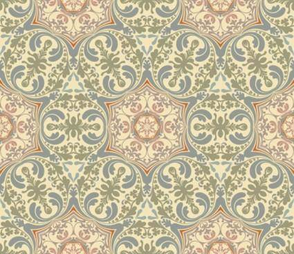 free vector Retro floral 03 vector