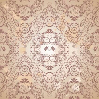 Retro floral 05 vector