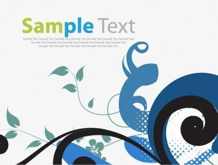 free vector Abstract Floral Vector Illustration