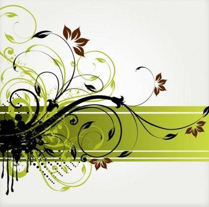 free vector Floral Swirl Vector Background