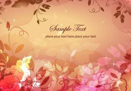 free vector Dream Floral Background