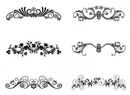 free vector Vector Floral Ornamental Design Elements