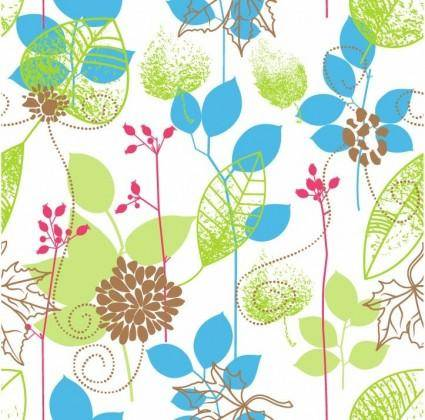 free vector Seamless Floral Design Vector Background