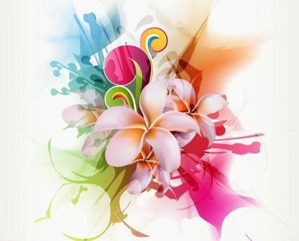 free vector Abstract Floral Vector Illustration Artwork