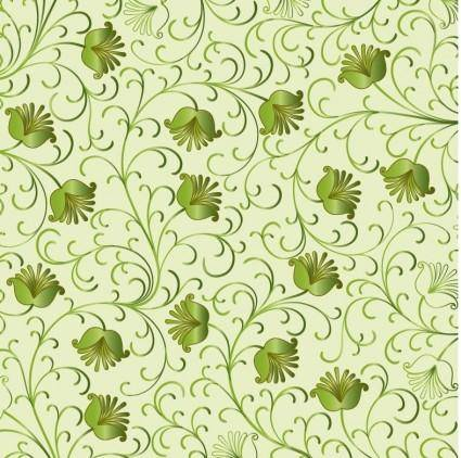 free vector Green Floral Background Vector
