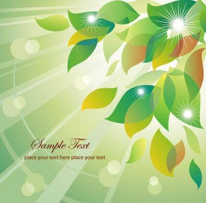 free vector Abstract Summer Floral Vector Illustration