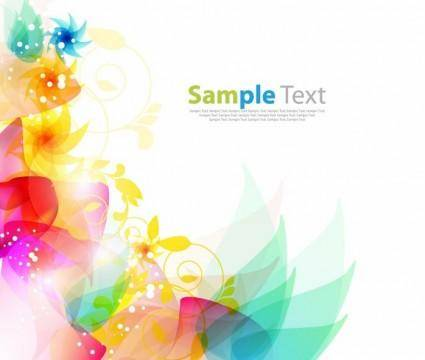 free vector Floral Abstract Background