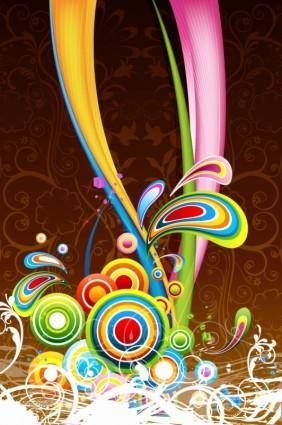 free vector Floral Colorful Background 2