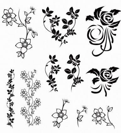 free vector Vector Floral Pack