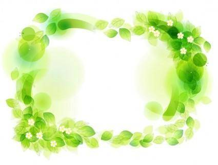 free vector Green Floral Frame Vector Illustration