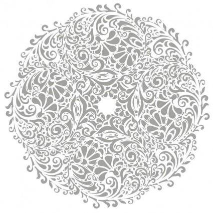 Floral Round Background Vector Illustration