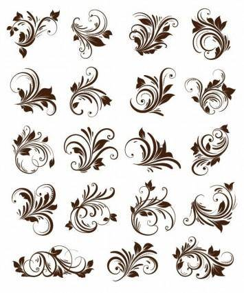 free vector Floral Ornament Element Vector Graphics