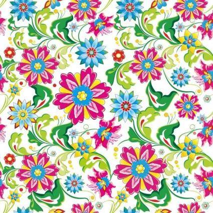 free vector Showy Seamless Floral Vector Background