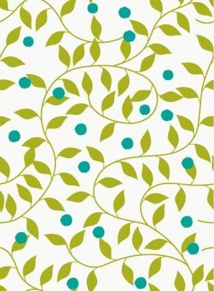 free vector Seamless Green Floral Pattern Vector Background