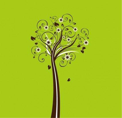 free vector Vector Floral Tree