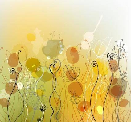 free vector Abstract Floral Background Vector Illustration