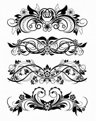 free vector Vector Floral Ornaments