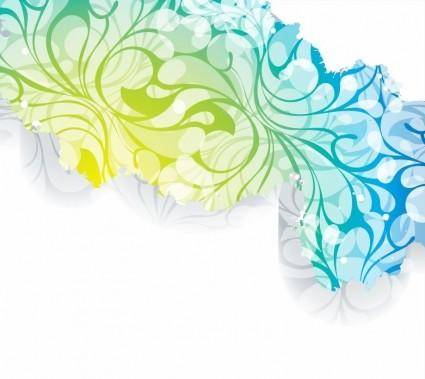 free vector Popular Floral Background Vector Art