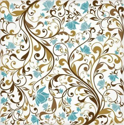 free vector Floral Background Vector Art
