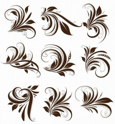free vector Vector Floral Elements for Design