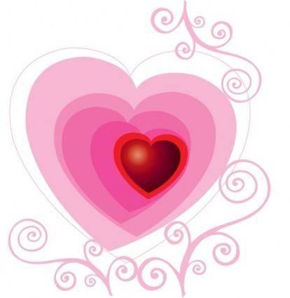 Beautiful Floral Heart Vector