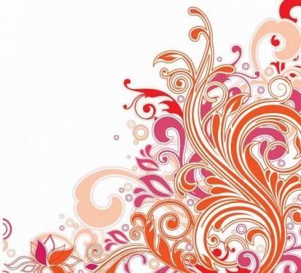 free vector Swirl Floral Design Vector Art