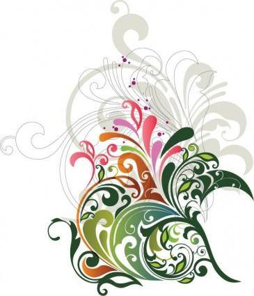 free vector Vector Floral Design Element