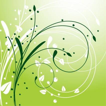 Abstract Swirl Floral Background Vector