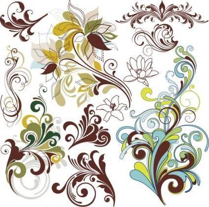 free vector Vintage Floral Design Elements
